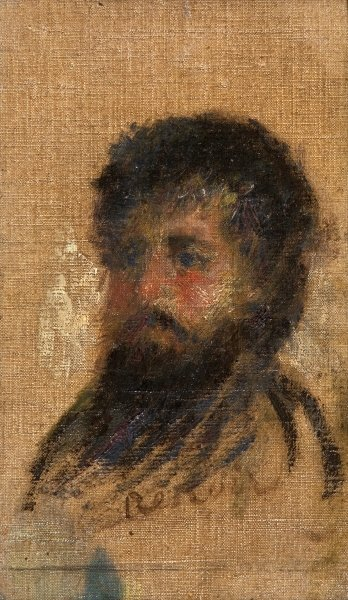 Portrait of Claude Monet Fine Art Print by Pierre-Auguste Renoir