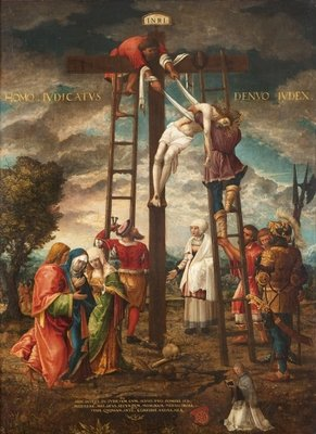 Descent of the Cross Fine Art Print by Hans Muelich or Mielich