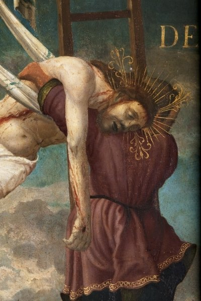 Descent of the Cross, detail Wall Art & Canvas Prints by Hans Muelich or Mielich