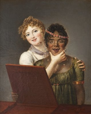 Look, What a Pretty Face, 1803 Fine Art Print by Louis Marie Sicard