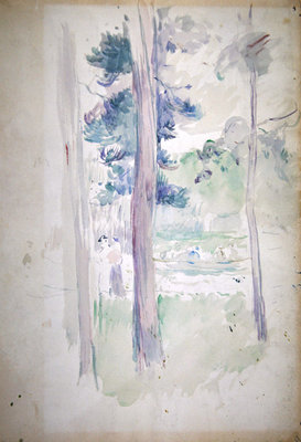 Pines by the lake, 1893 Poster Art Print by Berthe Morisot