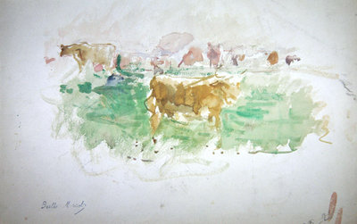 Cows in Normandy, 1880 Fine Art Print by Berthe Morisot