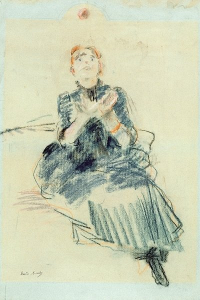 Young girl playing with a ball, 1886 Fine Art Print by Berthe Morisot