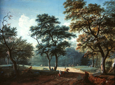 The Bois de Boulogne, 1797 Wall Art & Canvas Prints by Lazare Bruandet