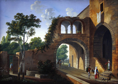 Scene in the Italian countryside, 1813 Fine Art Print by Caizac