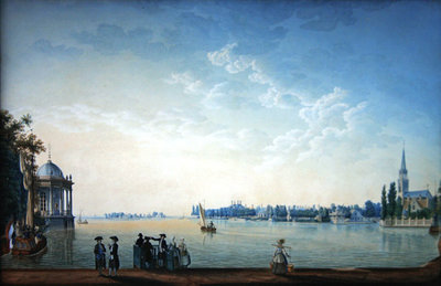 Havenrak to Broek in Waterland, or The City of Zwolle on the banks of the Ijssel in Holland, 1814 Fine Art Print by Anton Ignaz Melling