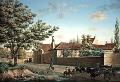 View of the Trou d'Enfer farm between Saint-Germain and Marly, c.1810 Fine Art Print by Antoine Pierre Mongin