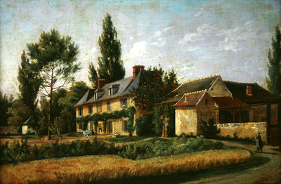 Country house on the outskirts of Paris, 1832 Wall Art & Canvas Prints by Pierre Alexandre Pau de Saint-Martin