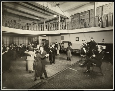 Monthly dance at the New York Association for the Blind, 111 East 59th Street, New York, 1926 Fine Art Print by Byron Company