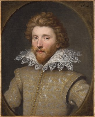 Portrait of a Gentleman, 1609 Fine Art Print by Anglo-Flemish School