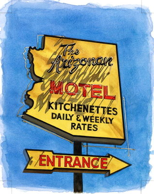The Arizonian, Miracle Mile, 2004 Fine Art Print by Lucy Masterman