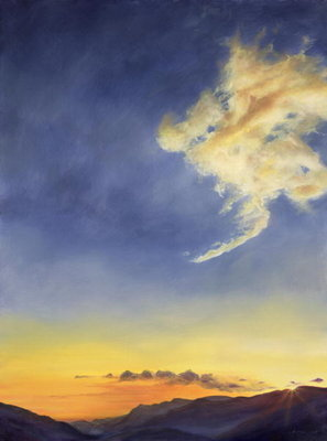 Father's Joy (Cloudscape), 2001 (oil on canvas) Wall Art & Canvas Prints by Antonia Myatt