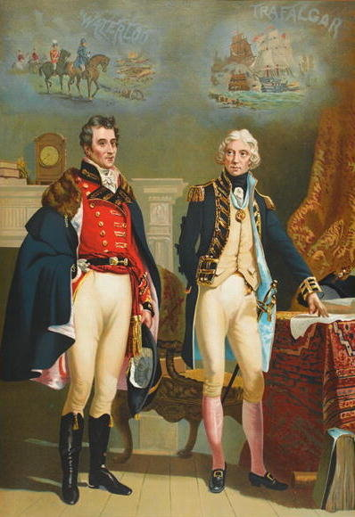 The Army and Navy representing the only interview between the Great Commanders, Wellington Fine Art Print by English School