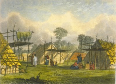 Dakotah village, 1853 Wall Art & Canvas Prints by Captain Seth Eastman