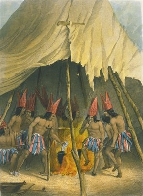 Dance to the giant, 1853 Wall Art & Canvas Prints by Captain Seth Eastman