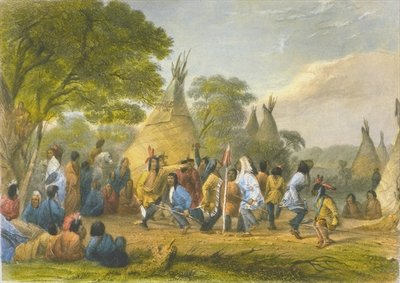 Dog Dance of the Dakotas, 1853 Wall Art & Canvas Prints by Captain Seth Eastman