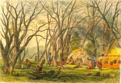 Indian Sugar Camp, 1853 Wall Art & Canvas Prints by Captain Seth Eastman