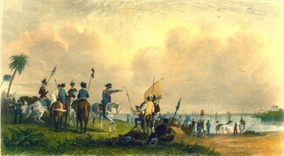 The Landing of De Soto at Tampa Bay in 1539, 1853 Wall Art & Canvas Prints by Captain Seth Eastman