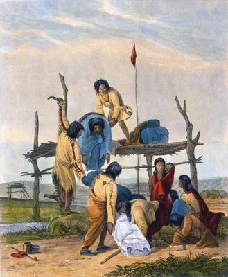 Indian Burial, 1853 Wall Art & Canvas Prints by Captain Seth Eastman