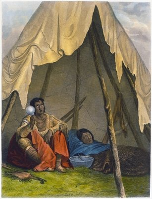 Medicine Man, 1853 Wall Art & Canvas Prints by Captain Seth Eastman