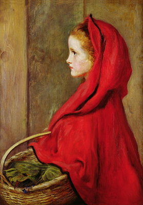 Red Riding Hood Wall Art & Canvas Prints by Sir John Everett Millais