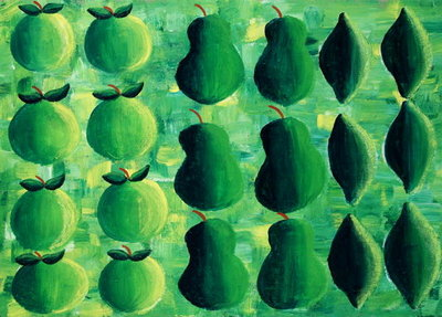 Apples, Pears and Limes, 2004 Fine Art Print by Julie Nicholls