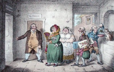 An Old Maid on a Journey, designed by Brownlow North, published by Hannah Humphrey, 1804 Fine Art Print by James Gillray