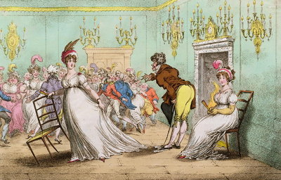 A Broad Hint of Not Meaning to Dance, published by Hannah Humphrey in 1804 Fine Art Print by James Gillray