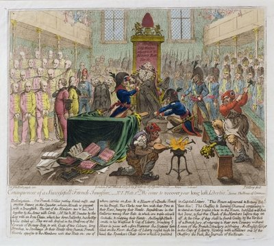 Consequences of a Successful French Invasion, or We come to recover your long lost Liberties, 1798 Wall Art & Canvas Prints by James Gillray