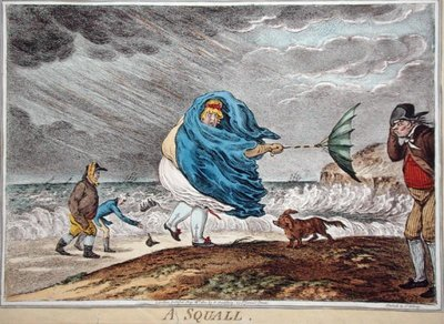 A Squall, published by Hannah Humphrey in 1810 Fine Art Print by James Gillray