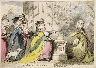 La Belle Assemblee, published by Hannah Humphrey in 1787 Wall Art & Canvas Prints by James Gillray