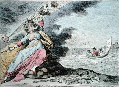 Dido Forsaken, published by S.W. Fores in 1787 Fine Art Print by James Gillray