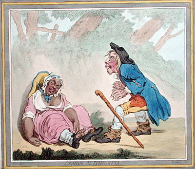Cymon & Iphigenia, published by Hannah Humphrey in 1796 Fine Art Print by James Gillray