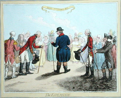 The Esplanade, published by Hannah Humphrey in 1797 Fine Art Print by James Gillray