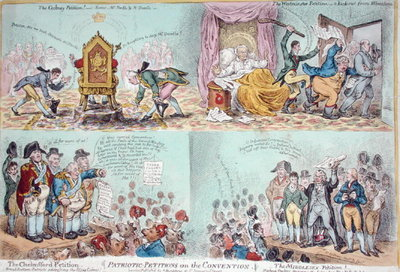 Patriotic Petitions on the Convention, published by Hannah Humphrey Fine Art Print by James Gillray