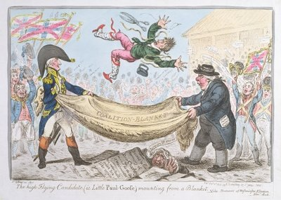 The high flying Candidate Poster Art Print by James Gillray
