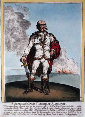 Field-Marshall Count Suwarrow-Rominiskoy Wall Art & Canvas Prints by James Gillray