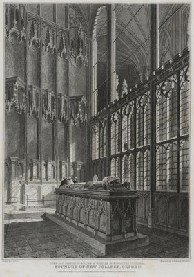 Tomb and Chantry of William Wykeham in Winchester Cathedral, engraved by J. Skelton and H. Winkles, 1828 Postcards, Greetings Cards, Art Prints, Canvas, Framed Pictures, T-shirts & Wall Art by R. Essex