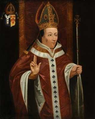 Henry Chichele, Archbishop of Canterbury Wall Art & Canvas Prints by English School
