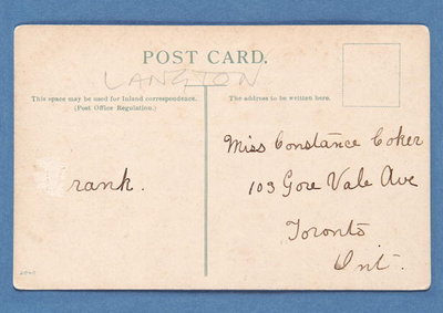 Reverse side of 'Well Placed' postcard Fine Art Print by English School