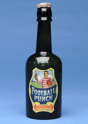 Bottle of Football Punch Fine Art Print by English School