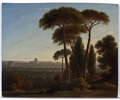 Rome with St. Peter's and the Castel Sant'Angelo, c.1821 Fine Art Print by John Glover