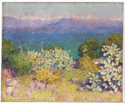 In the Morning, Alpes Maritimes from Antibes, 1890-91 Fine Art Print by John Peter Russell