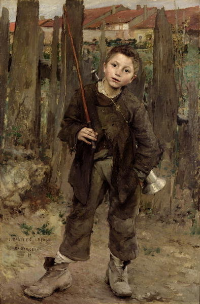 Pas Meche, 1882, (oil on canvas) Postcards, Greetings Cards, Art Prints, Canvas, Framed Pictures, T-shirts & Wall Art by Jules Bastien-Lepage