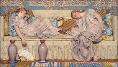 Beads, 1880 Wall Art & Canvas Prints by Albert Joseph Moore