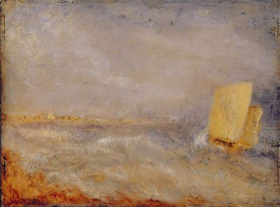 A Sailing Boat off Deal, c.1835 Fine Art Print by Joseph Mallord William Turner