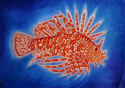 Lionfish, 1998 Poster Art Print by Nat Morley