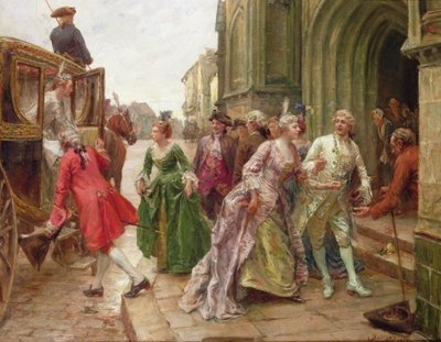 Arrival for the Wedding Wall Art & Canvas Prints by Paul Emile Boutigny