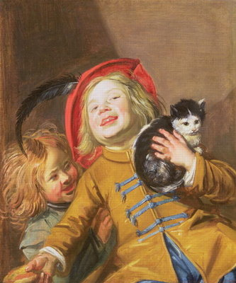 Laughing Children with a Cat, 1629 Poster Art Print by Judith Leyster