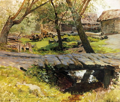A Bridge in Savvinskaya Sloboda Fine Art Print by Isaak Ilyich Levitan